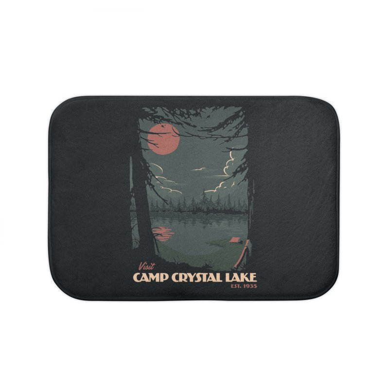 Visit Camp Crystal Lake Home Bath Mat by mathiole
