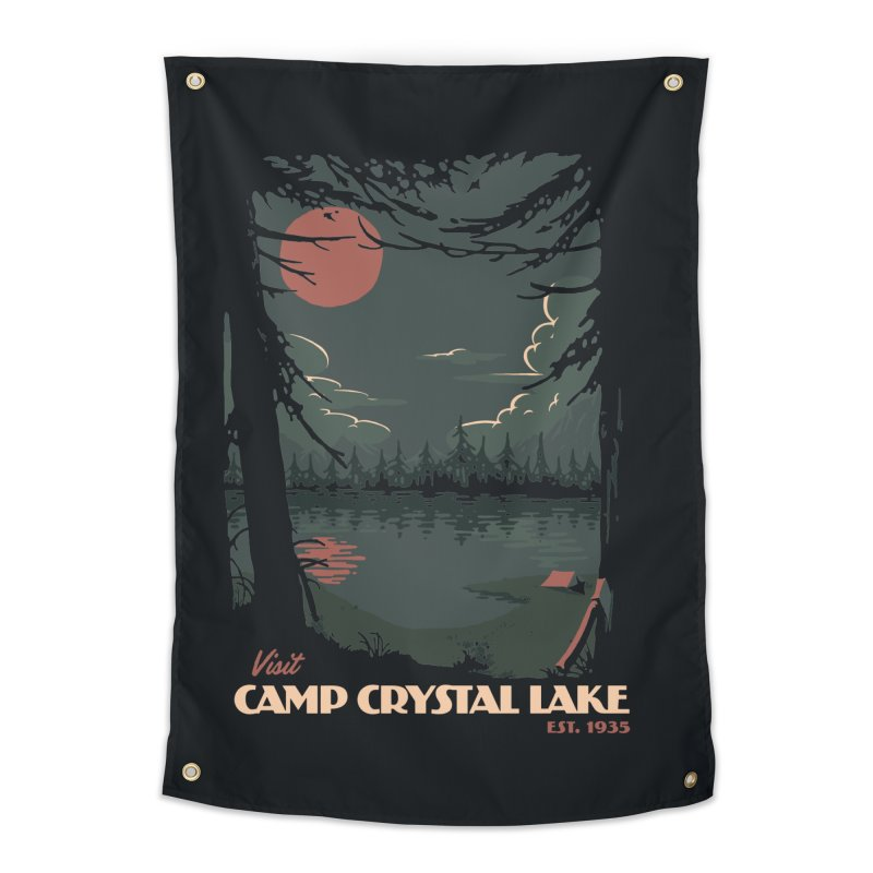 Visit Camp Crystal Lake Home Tapestry by mathiole