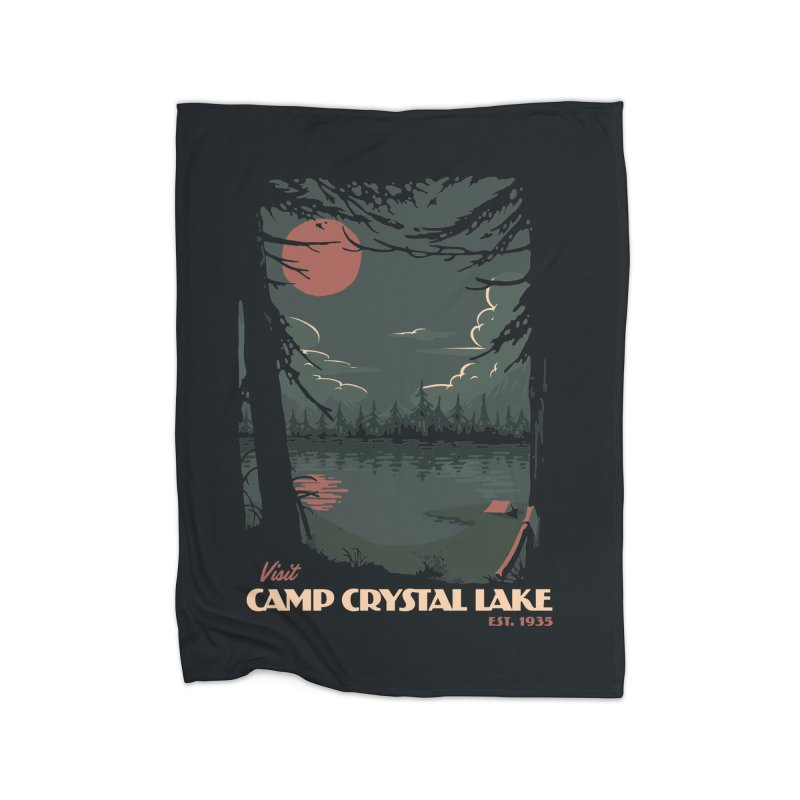 Visit Camp Crystal Lake Home Blanket by mathiole