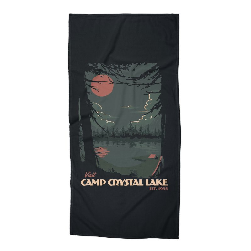 Visit Camp Crystal Lake Accessories Beach Towel by mathiole
