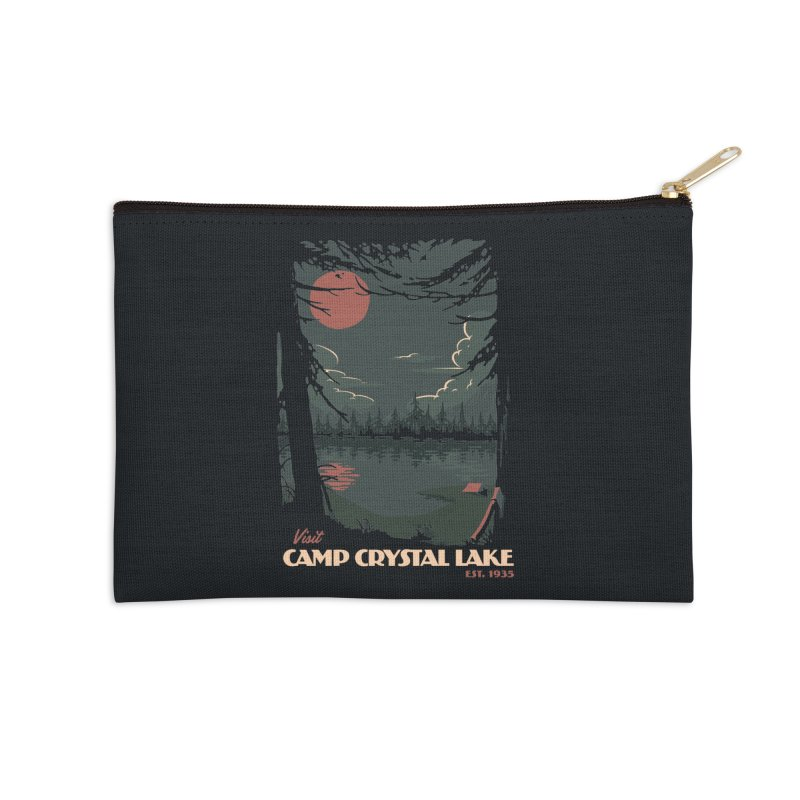 Visit Camp Crystal Lake Accessories Zip Pouch by mathiole