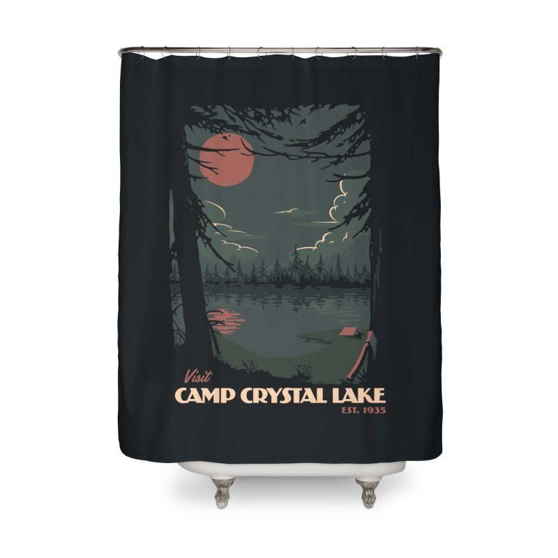 Visit Camp Crystal Lake Home Shower Curtain by mathiole