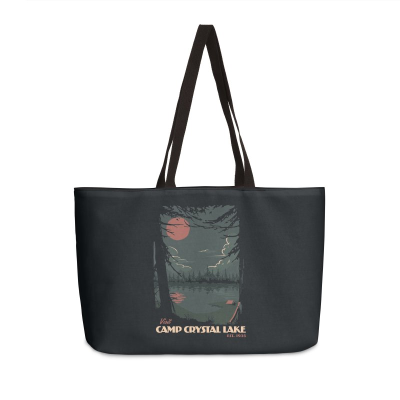 Visit Camp Crystal Lake Accessories Weekender Bag Bag by mathiole