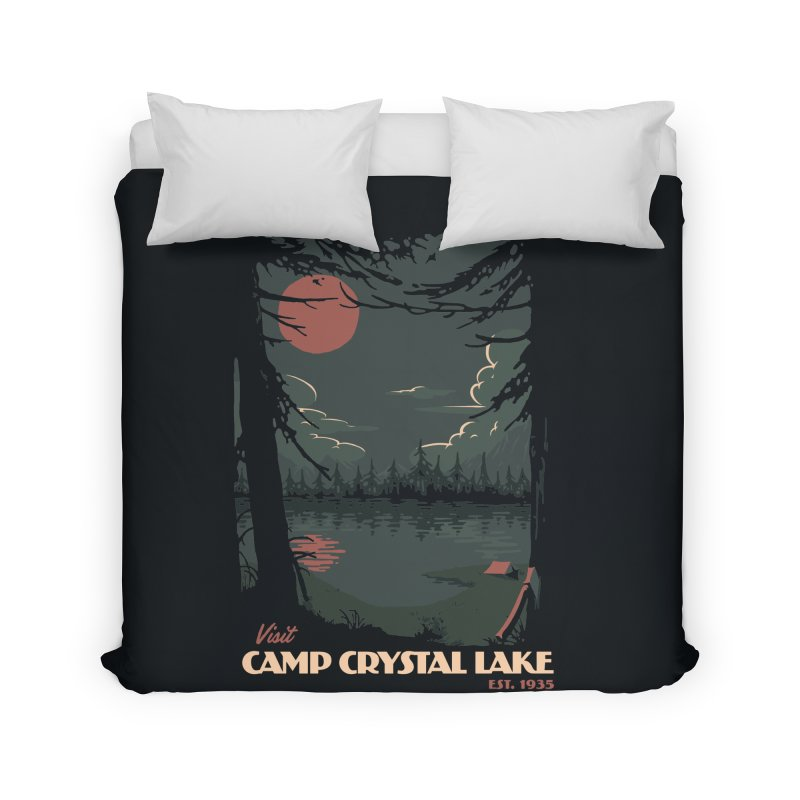 Visit Camp Crystal Lake Home Duvet by mathiole