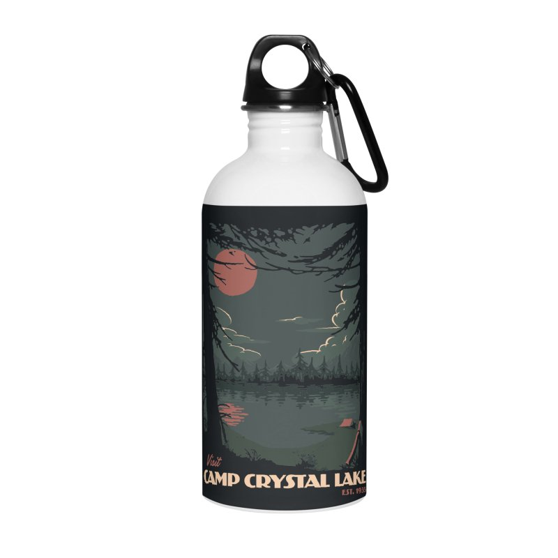 Visit Camp Crystal Lake Accessories Water Bottle by mathiole