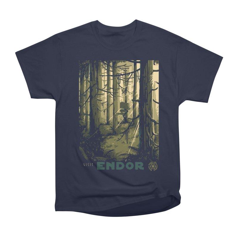Visit Endor Men's Heavyweight T-Shirt by mathiole