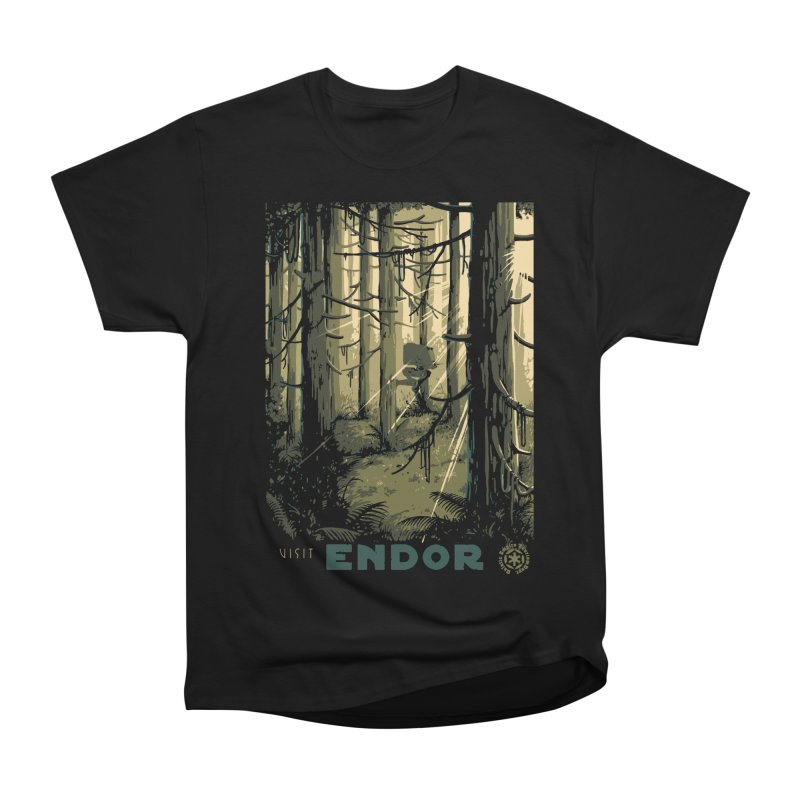 Visit Endor Men's Heavyweight T-Shirt by mathiole