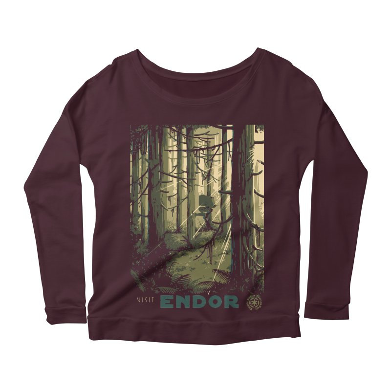Visit Endor Women's Scoop Neck Longsleeve T-Shirt by mathiole