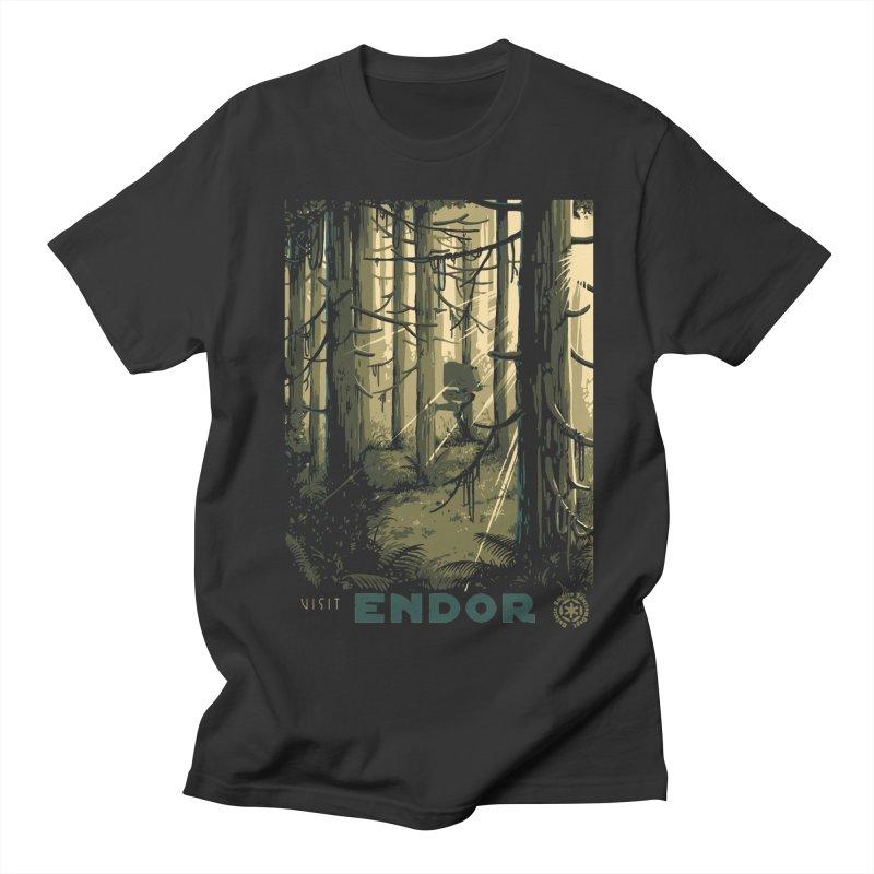 Visit Endor Men's Regular T-Shirt by mathiole