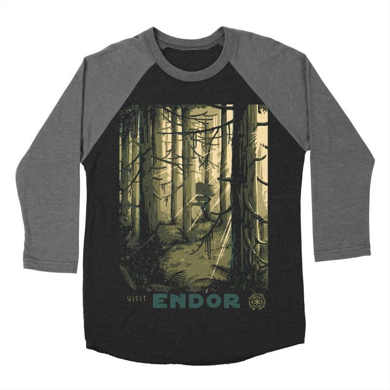 Visit Endor Women's Baseball Triblend Longsleeve T-Shirt by mathiole