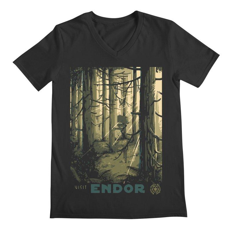 Visit Endor Men's Regular V-Neck by mathiole