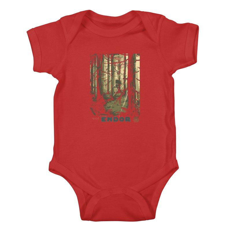 Visit Endor Kids Baby Bodysuit by mathiole