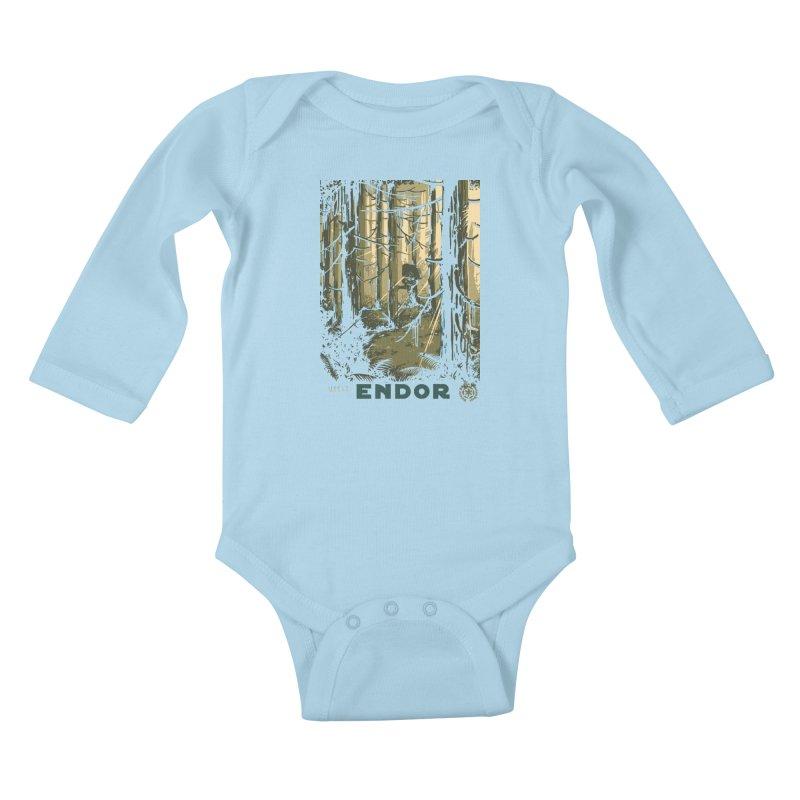 Visit Endor Kids Baby Longsleeve Bodysuit by mathiole