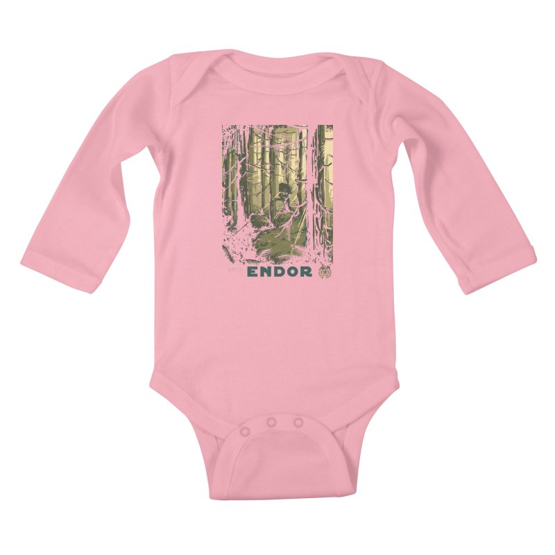 Visit Endor Kids Baby Longsleeve Bodysuit by mathiole