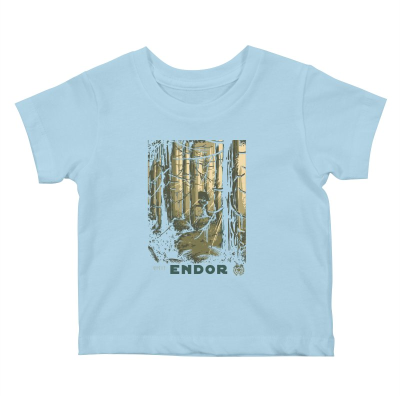 Visit Endor Kids Baby T-Shirt by mathiole