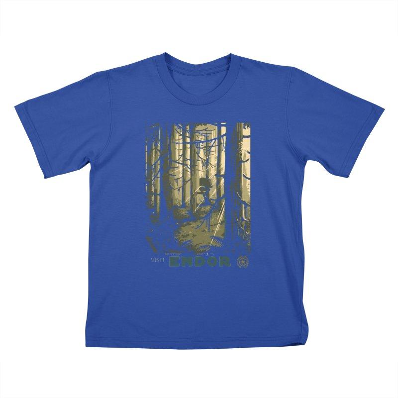 Visit Endor Kids T-Shirt by mathiole