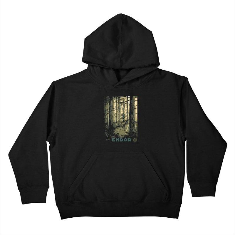 Visit Endor Kids Pullover Hoody by mathiole