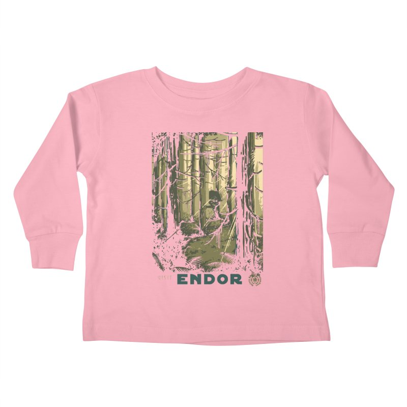 Visit Endor Kids Toddler Longsleeve T-Shirt by mathiole