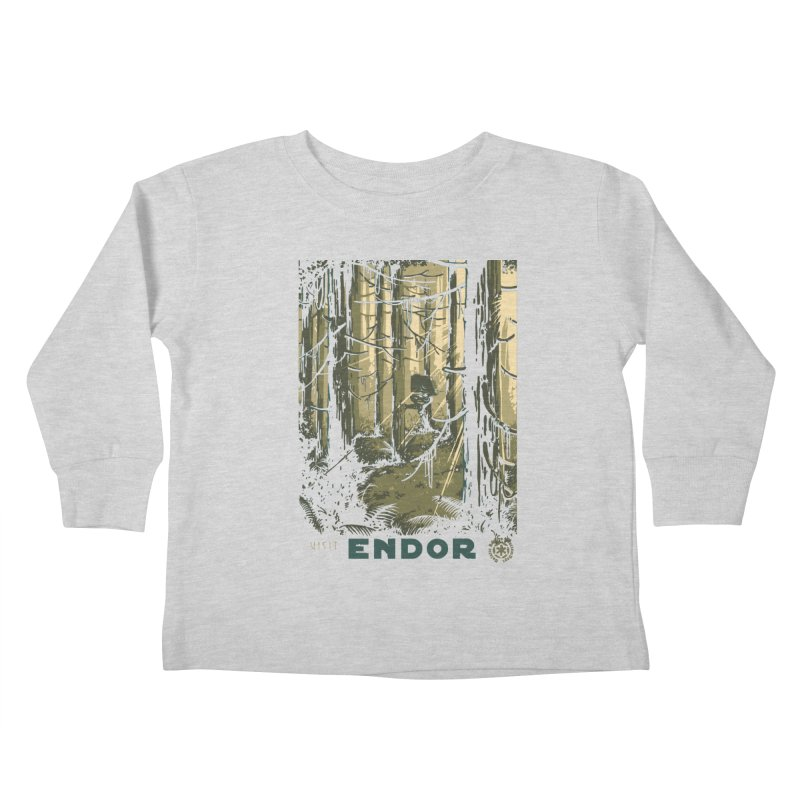 Visit Endor Kids Toddler Longsleeve T-Shirt by mathiole