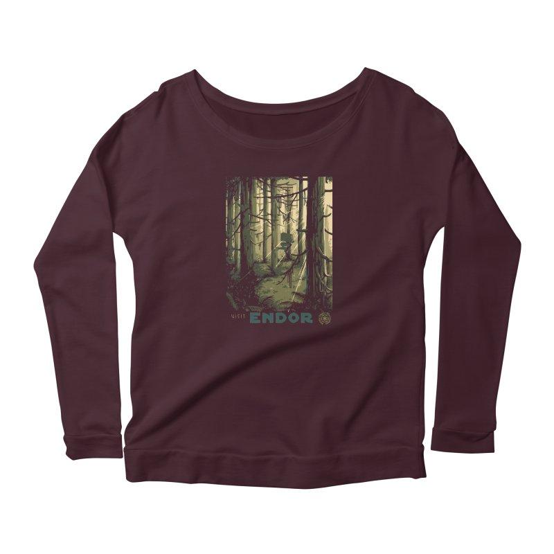 Visit Endor Women's Scoop Neck Longsleeve T-Shirt by mathiole