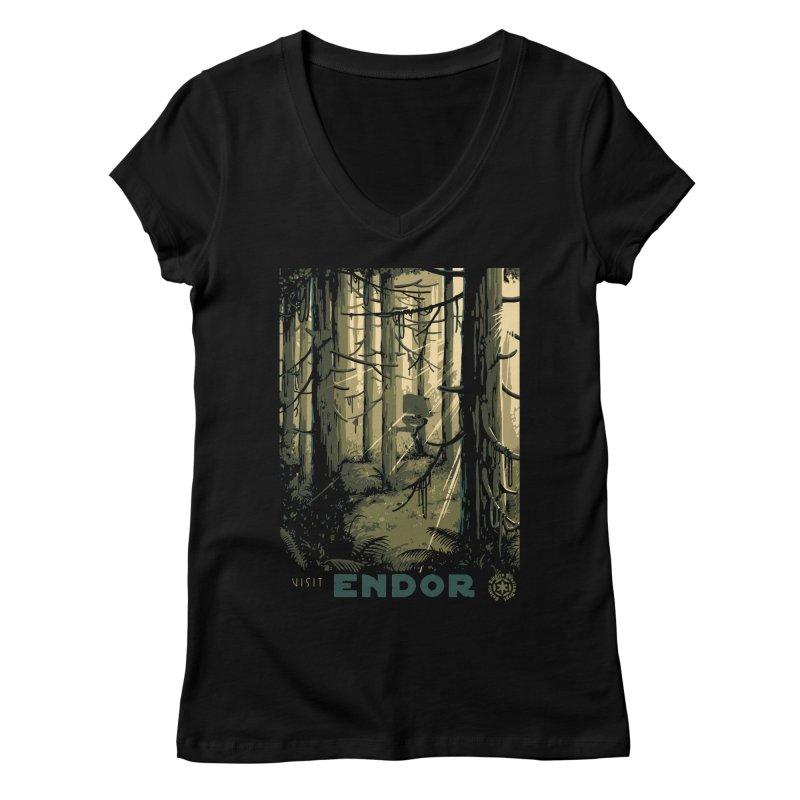 Visit Endor Women's Regular V-Neck by mathiole