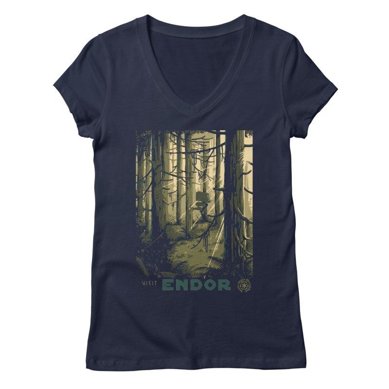 Visit Endor Women's V-Neck by mathiole