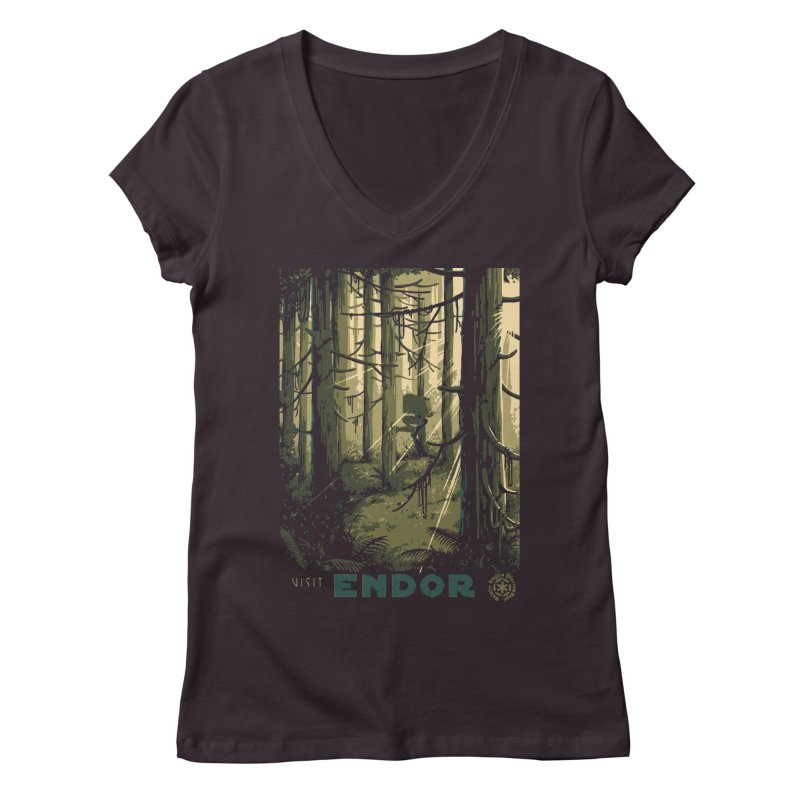 Visit Endor Women's Regular V-Neck by mathiole