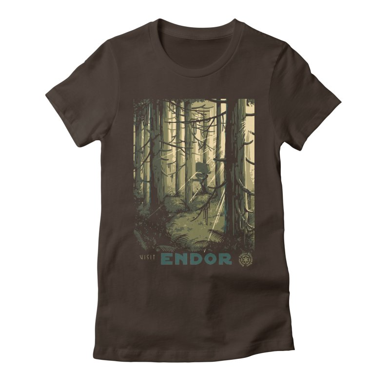 Visit Endor Women's Fitted T-Shirt by mathiole