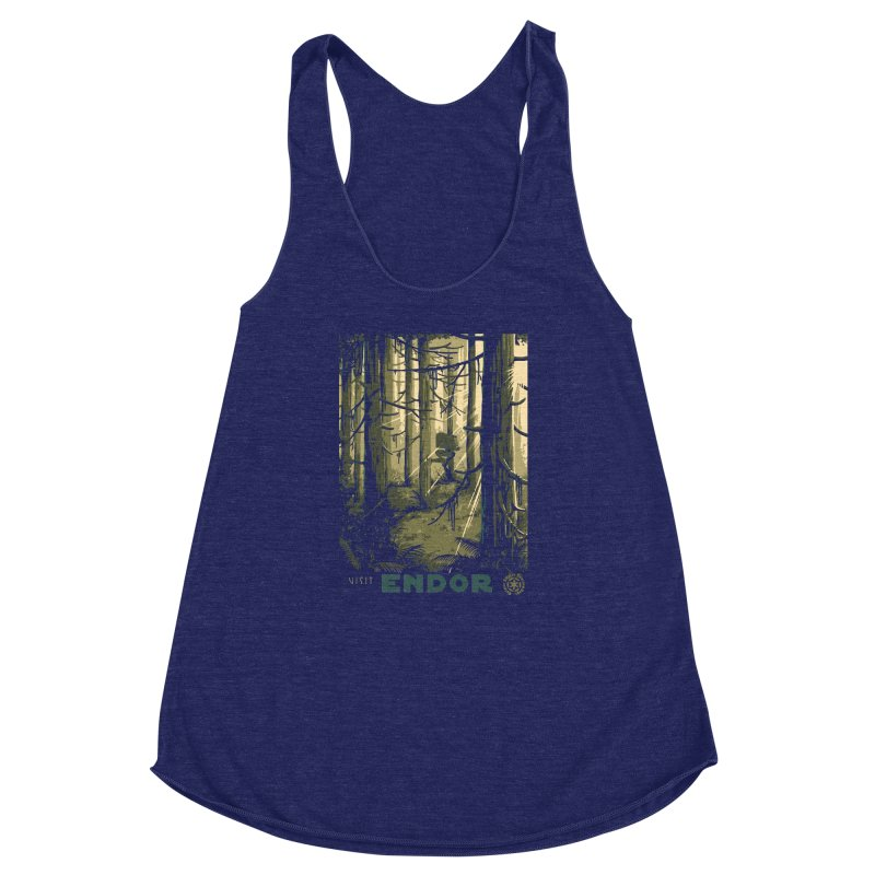 Visit Endor Women's Racerback Triblend Tank by mathiole