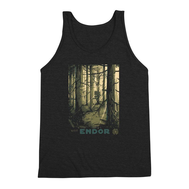 Visit Endor Men's Triblend Tank by mathiole