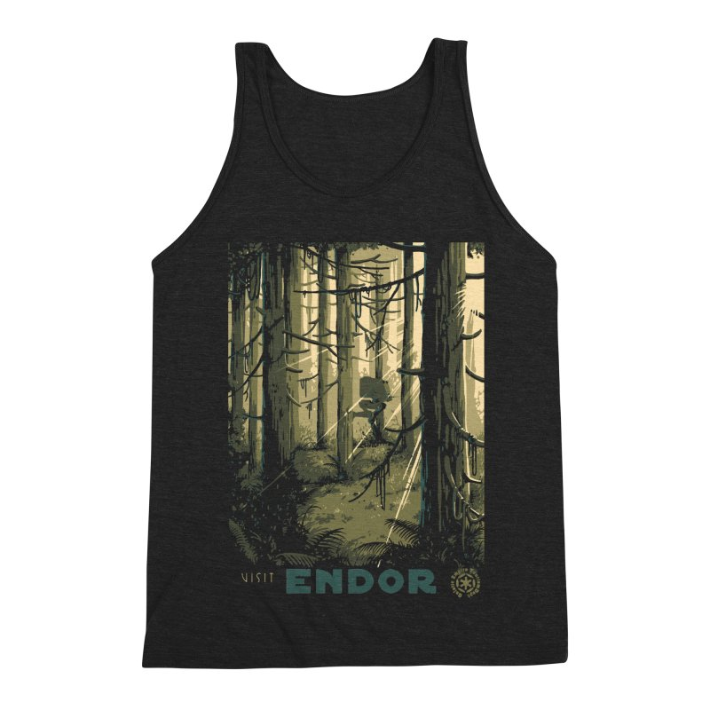 Visit Endor Men's Triblend Tank by mathiole