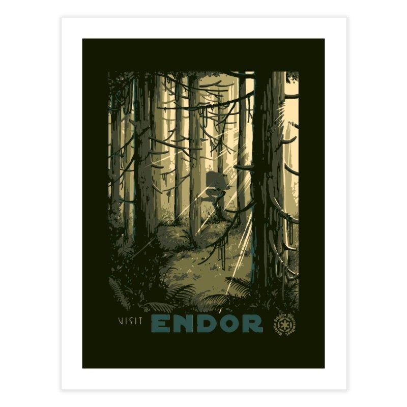 Visit Endor Home Fine Art Print by mathiole