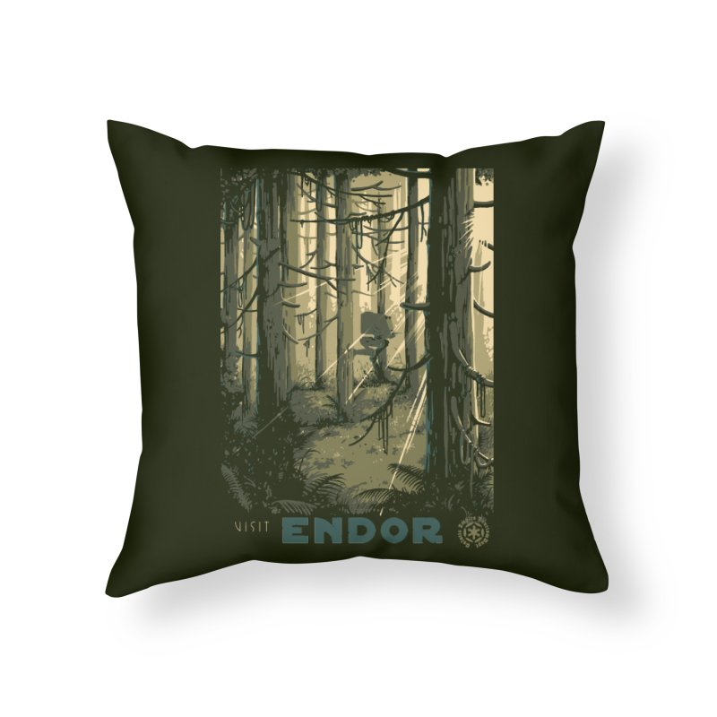Visit Endor Home Throw Pillow by mathiole