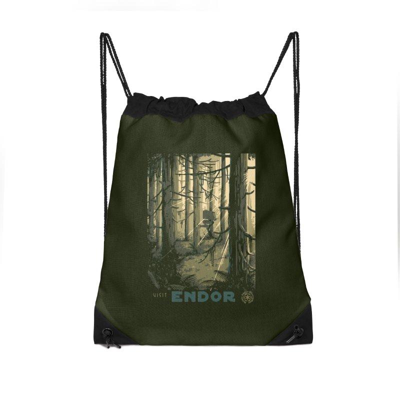Visit Endor Accessories Drawstring Bag Bag by mathiole
