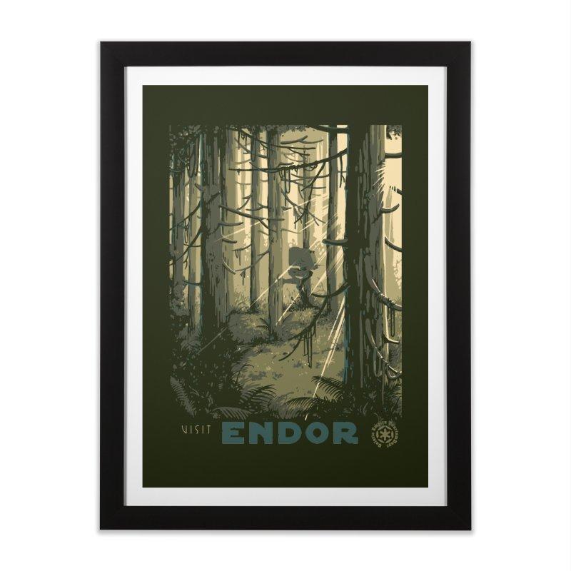 Visit Endor Home Framed Fine Art Print by mathiole