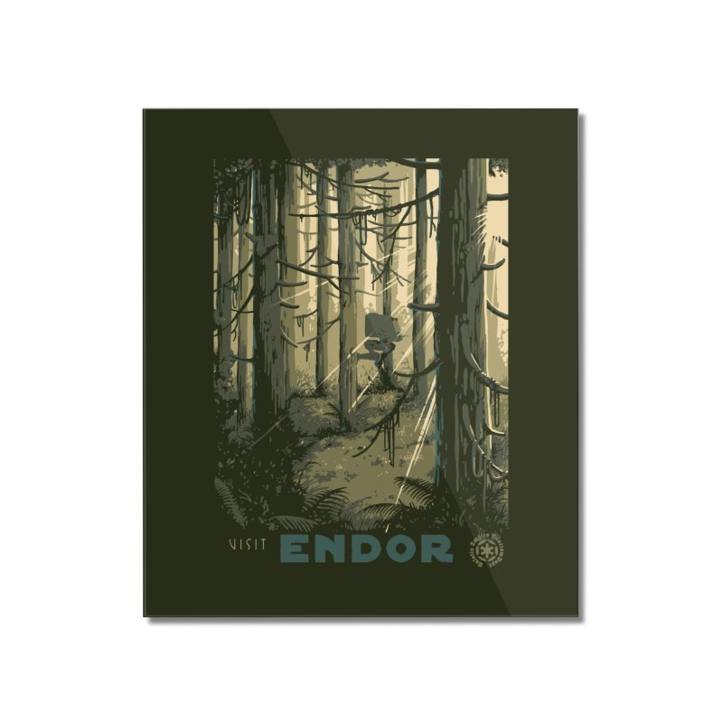 Visit Endor Home Mounted Acrylic Print by mathiole