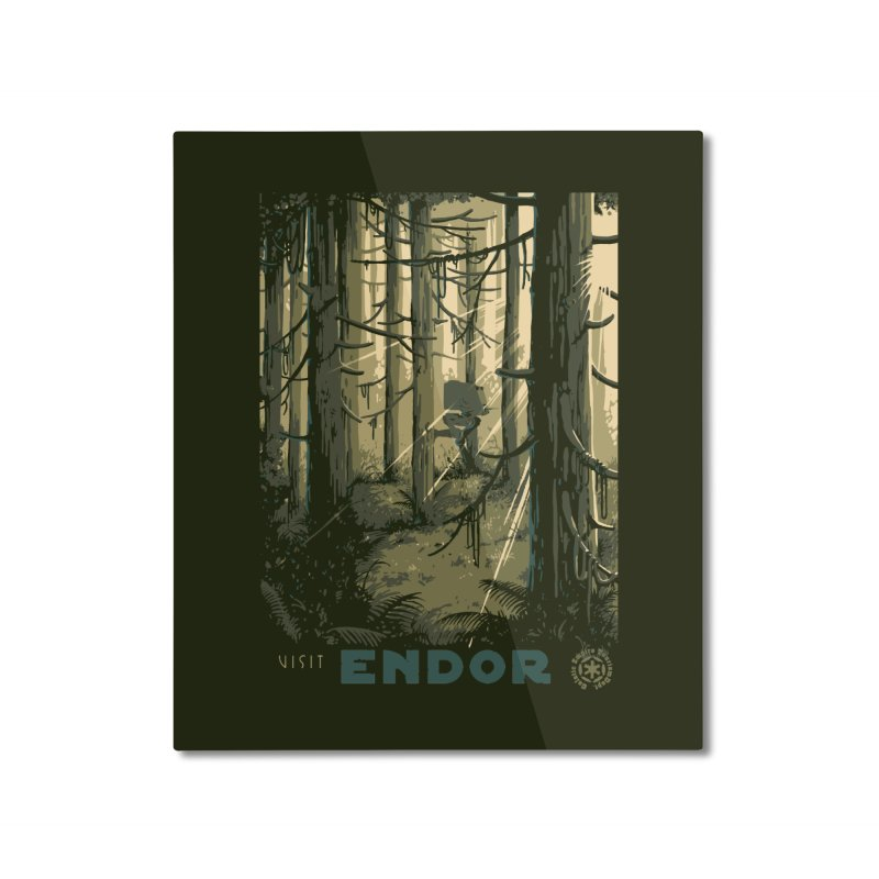Visit Endor Home Mounted Aluminum Print by mathiole