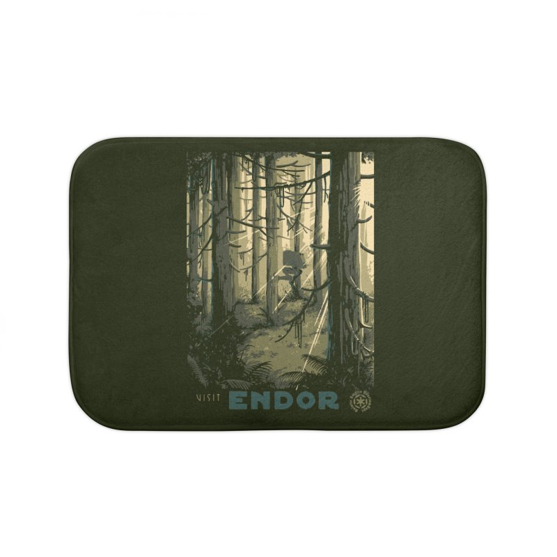 Visit Endor Home Bath Mat by mathiole