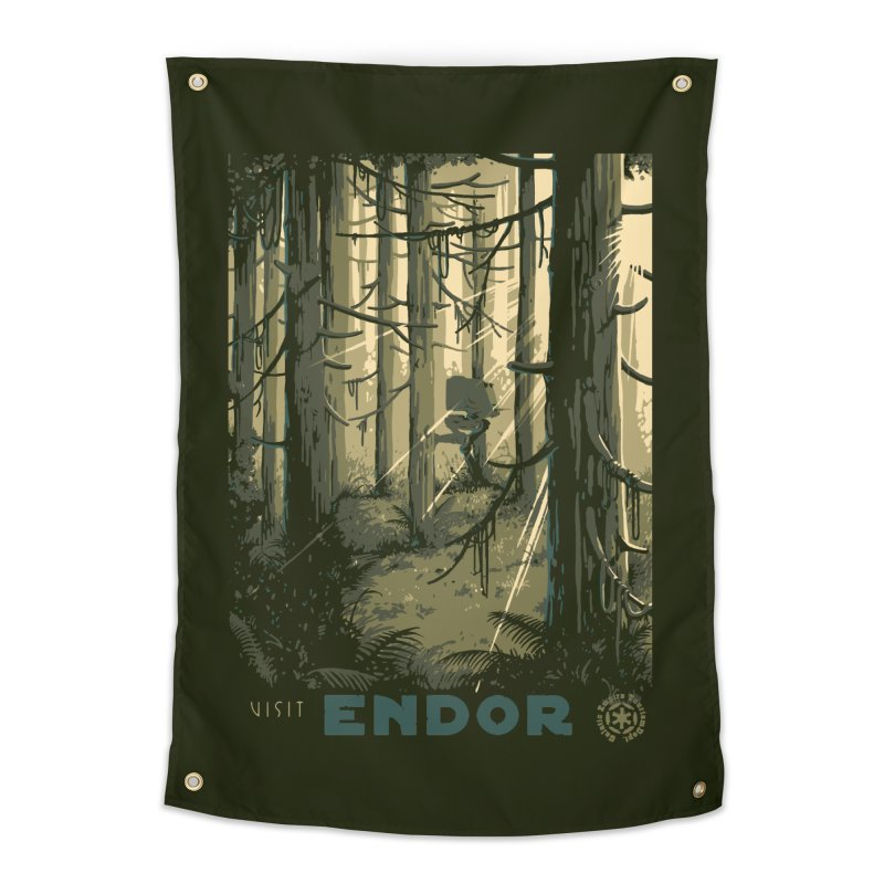 Visit Endor Home Tapestry by mathiole