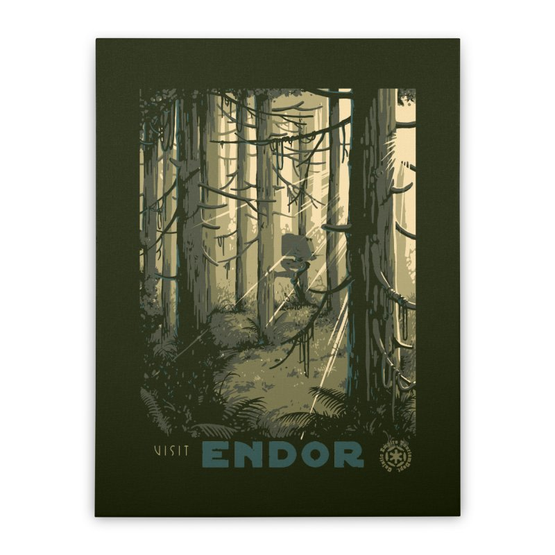 Visit Endor Home Stretched Canvas by mathiole