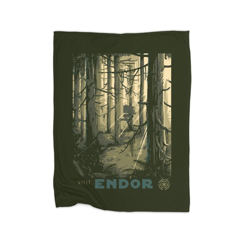 Visit Endor Home Blanket by mathiole