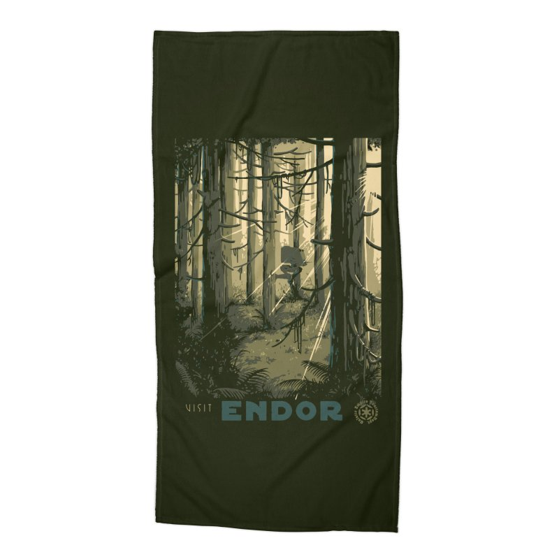 Visit Endor Accessories Beach Towel by mathiole
