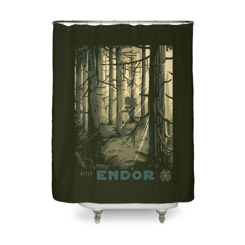 Visit Endor Home Shower Curtain by mathiole