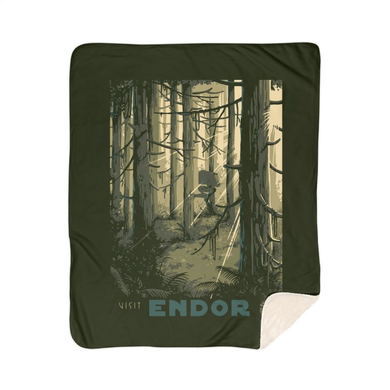 Visit Endor Home Sherpa Blanket Blanket by mathiole