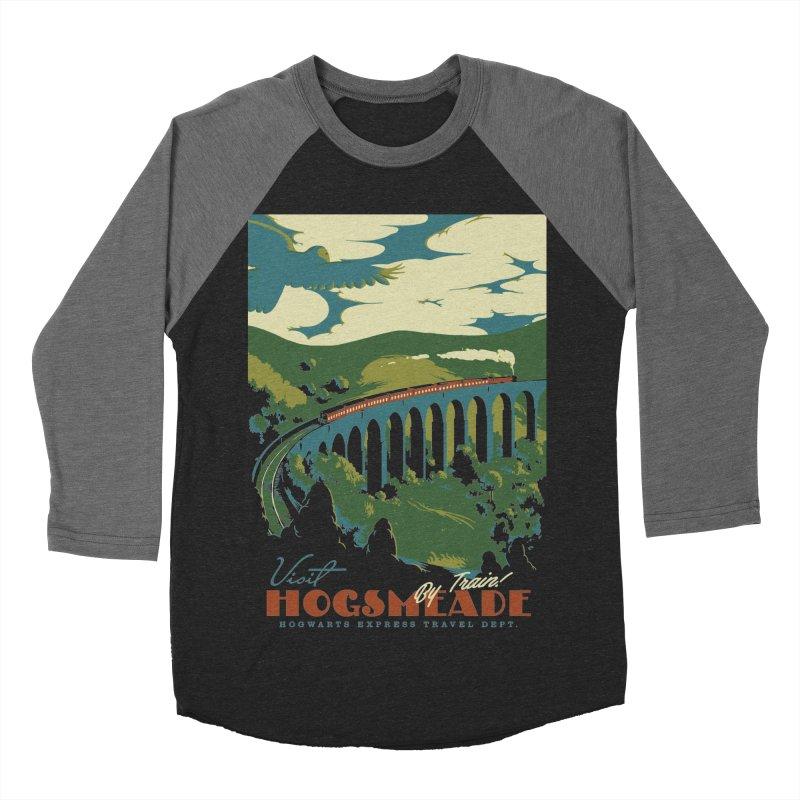 Visit Hogsmeade Men's Baseball Triblend T-Shirt by mathiole