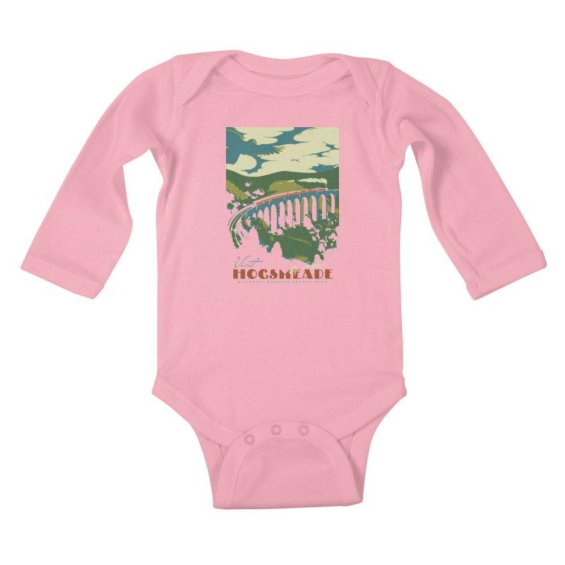 Visit Hogsmeade Kids Baby Longsleeve Bodysuit by mathiole