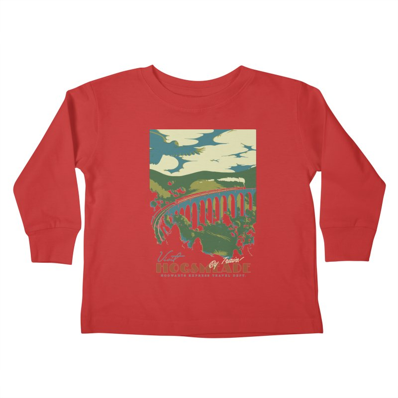 Visit Hogsmeade Kids Toddler Longsleeve T-Shirt by mathiole