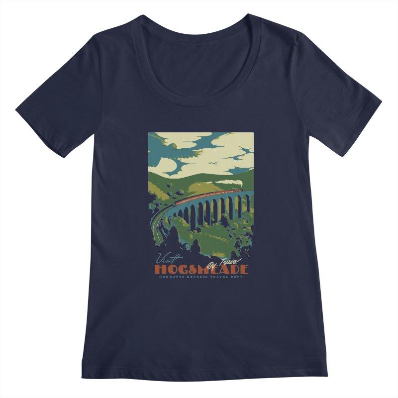 Visit Hogsmeade Women's Regular Scoop Neck by mathiole