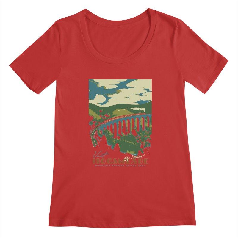 Visit Hogsmeade Women's Scoopneck by mathiole