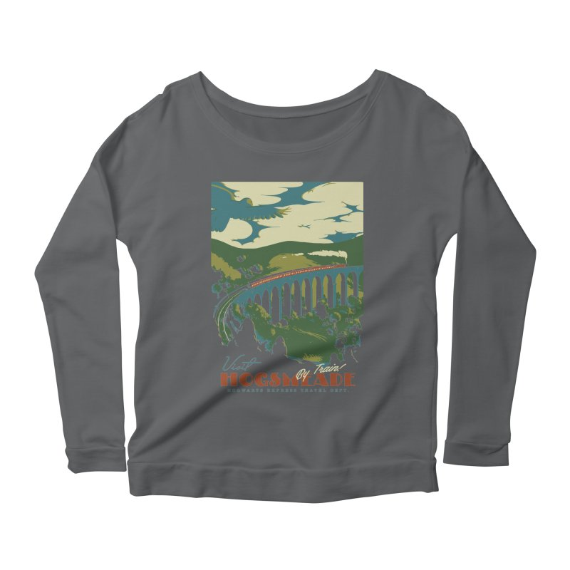 Visit Hogsmeade Women's Scoop Neck Longsleeve T-Shirt by mathiole